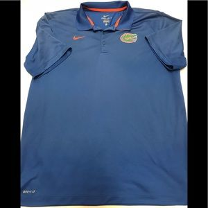 Nike men's x/l dri fit gators polo